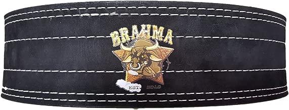 LiftingLarge Titan Brahma 13mm Single Prong Powerlifting Belt - IPF Legal (Red, 2XL)