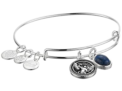 Alex and Ani Duo Charm Bangle Bracelet (Silver/Archangel Michael) Bracelet