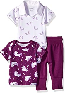 Ultimate Baby Flexy Knit Jogger with Polo Bodysuit and Short Sleeve Crew