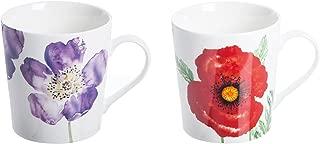 Price & Kensington Woodland Poppies Assorted Fine China Mug, Multi-Colour