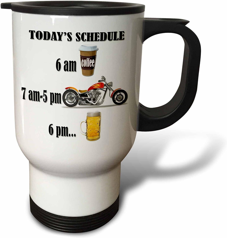 Amazon Com 3drose Coffee Motorcycle Beer Funny Motorcycles Saying Travel Mug 14 Oz White Kitchen Dining