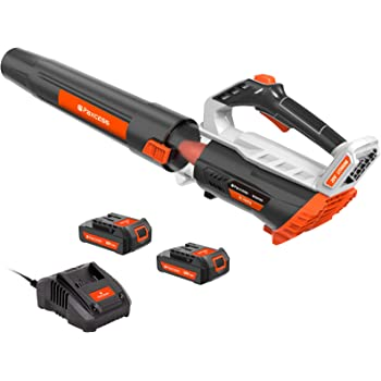 PAXCESS 20V Cordless Leaf Blower,Battery Powered Leaf Blower with 2 PCS 2.0Ah Lithium Batteries and 1 PCS Quick Charger,Only 6.4LB, Up to 16000RPM,Cordless Blower for Blowing Leaf,Clearing Dust