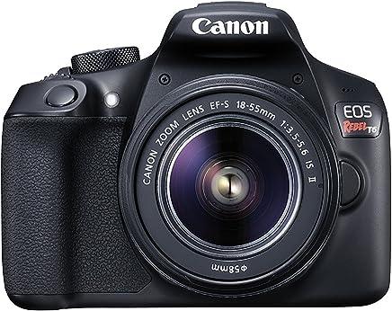 Canon EOS Rebel T6 - Kit de cámara réflex digital con lente EF-S 0.709-2.165in f/3.5-5.6 IS II, WiFi integrado y NFC, color negro
