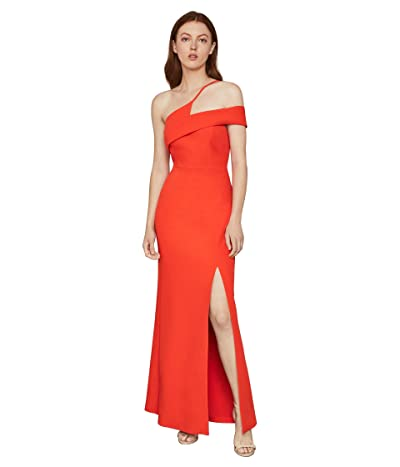 BCBGMAXAZRIA One Shoulder Gown (Vibrant Orange) Women