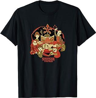 Stranger Things D&D Group Shot Cartoon T-Shirt