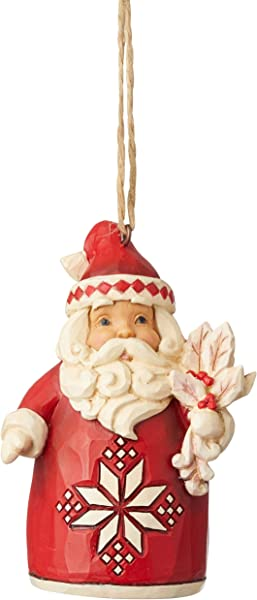 Enesco Jim Shore Heartwood Creek Nordic Noel Santa Ornament