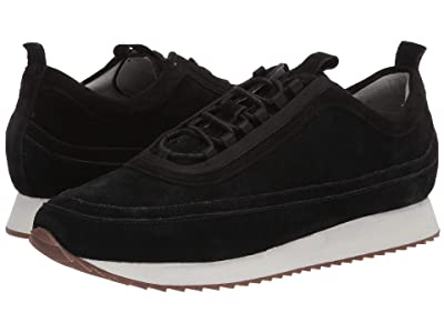 Grenson Classic Toe Detail Sneaker (Black Suede) Men