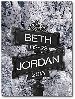 Personalized Wedding Anniversary Housewarming Gift Intersection of Love Street Sign Wedding Date Couple's First Names Custom