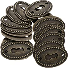 Angoily Antiek Messing Decoratieve Sleutelgat Cover Ovale Legering Sleutelgat Rozet Cover voor Dressoir Lade Kabinet 20 stks