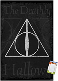 Trends International Harry Potter-The Deathly Hallows-Symbol Premium Mount Bundle Wall Poster, 14.725