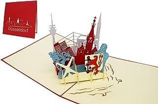 """LIN-POP UP Karten""""Düsseldorf"""", 3D Karten D�"""