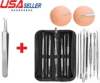 US Seller 8PCS Blackhead Acne Comedone Pimple Blemish Extractor Remover Stainless Tool Kit