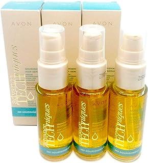 3 x AVON Advance Techniques Nourishing Hair Serum with Moroccan Argan Oil 30ml - 1.0fl.oz SET !