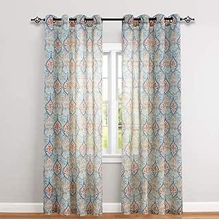 multi color window curtains