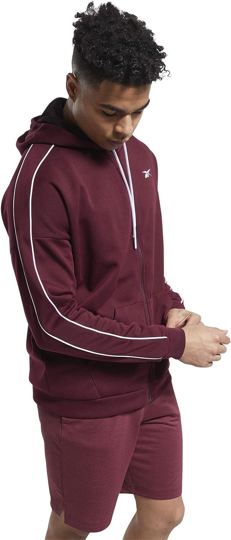 Topics on TV Reebok Men's Workout Ready Doubleknit New Free Shipping Zip Hoodie Full