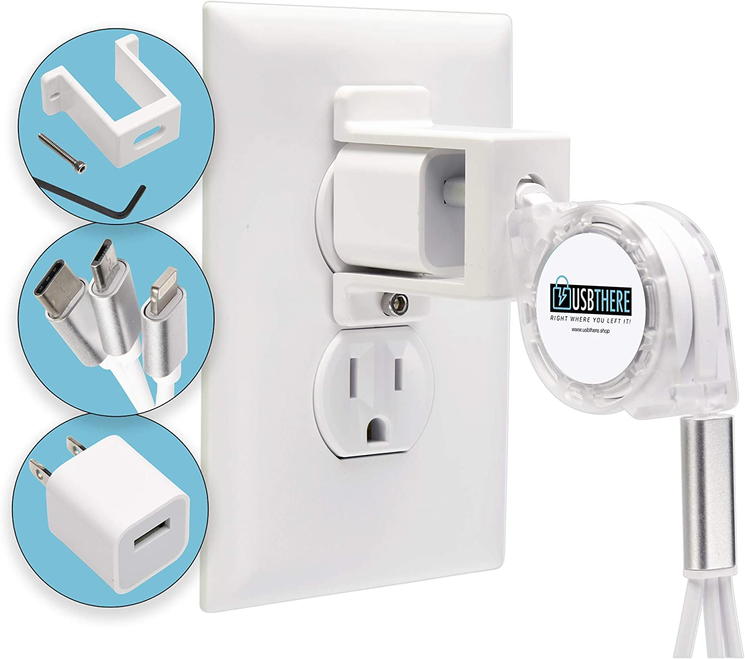 Limited 2021 spring and summer new price USBthere Cell Phone Charger Lock with Compatible 2 iPhon Pack