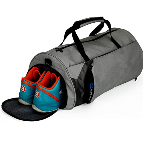 INOXTO Fitness Sport Small Gym Bag with Shoes Compartment Waterproof Travel Duffel Bag for Women and