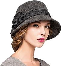 Maitose Women's Wool Felt Flowers Church Bowler Hats