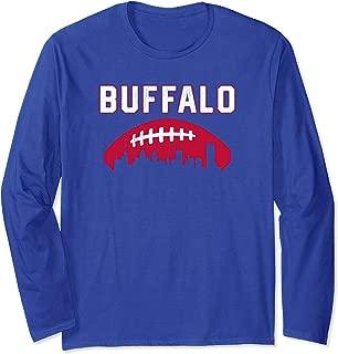Vintage Buffalo Football Retro BUF City Skyline Long Sleeve T-Shirt