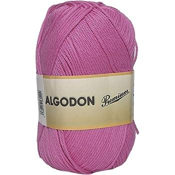 Hilo Acrílico Ovillo de Lana Algodón Premium perfecto para DIY y tejer a mano (Color Fucsia 100 g, aprox. 220 metros): Amazon.es: Hogar
