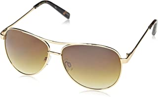 Jessica Simpson Women's J106 Stylish Iconic UV Protective Metal Aviator Sunglasses | Wear All-Year | The Gift of Glam, 60 mm