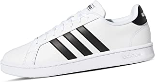 Adidas Grand Court Faux Leather Contrast Side Stripe Heel Tab Logo Tennis Shoes for Men