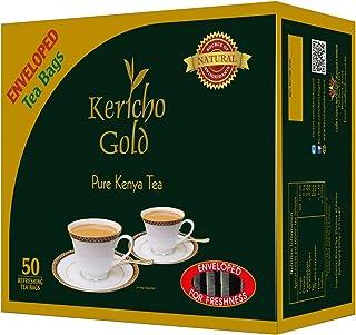 JACKIELYNA'S Finest Kenyan Kericho Gold Foil Enveloped Tea Bags (Kenya) - 100gms / 50 tea bags