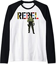 Star Wars The Rise of Skywalker Rebel Rose Raglan Baseball Tee