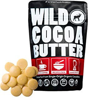 Raw USDA Organic Cocoa Butter Wafers from Peru, Unrefined, Non-Deodorized, Food Grade, Keto, Plant-Based, Paleo, Vegan, Non-GMO, Recipes, Smoothies, Coffee, Skincare and Haircare (16 ounce)