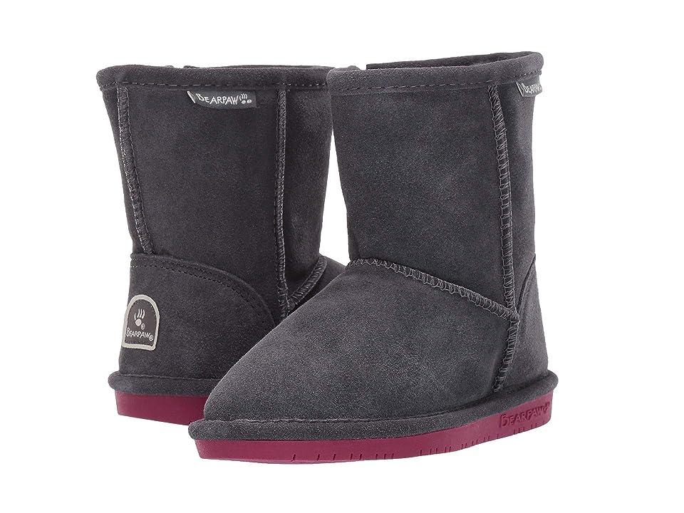 Bearpaw Kids Emma Zipper (Toddler/Little Kid) (Charcoal/Pomberry) Girls Shoes