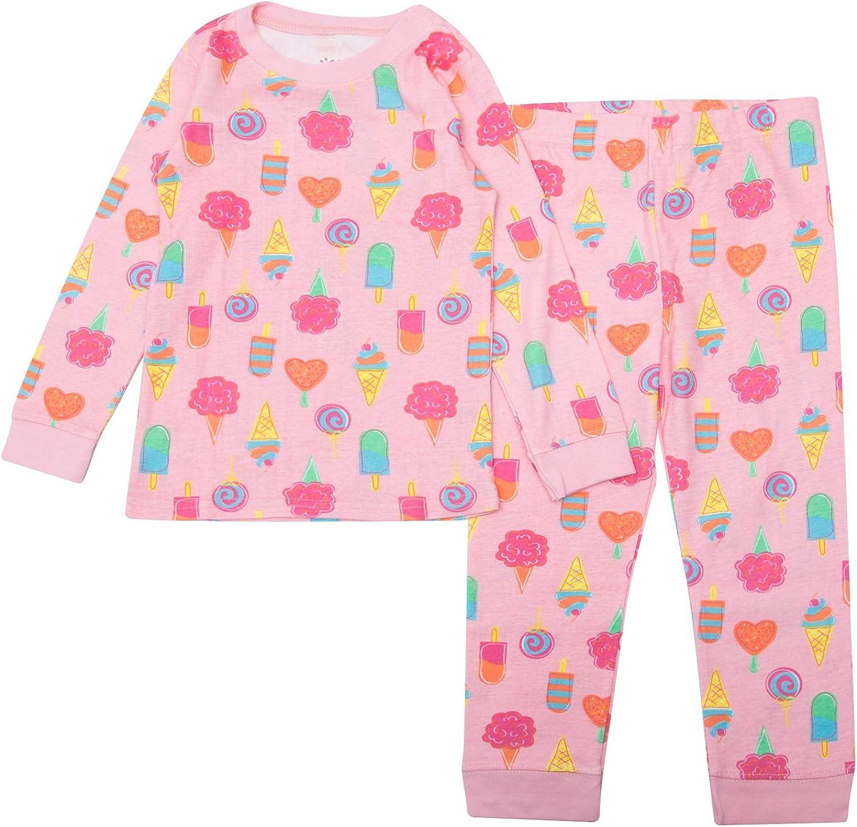 Gentle Organics 100% Organic Cotton Girls Pajamas 2 Piece Pajama Sets - 100% Organic Cotton (Infant/Toddler)
