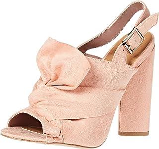 QUPID Heel Sandals for Women - Pink 7.5 US