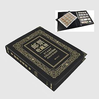 ألبوم طوابع، ألبوم تجميع الطوابع، ألبوم طوابع المجموعة مع 25 ورقة إعادة التعبئة السوداء تصميم التراث لهواة جمع الأطفال وال...