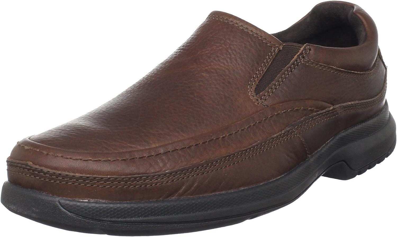 Rockport Men's BL Moc Slip-On Casual Loafer- Dark Tan-10.5 XW