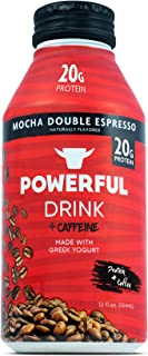 Powerful High Protein, Meal Replacement, Greek Yogurt Drink, Gluten-Free, Natural Ingredients, Kosher, 20g Protein, Mocha Double Expresso (12 count)