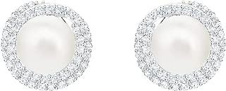 SWAROVSKI Women's Originally Pierced Earrings, White, Rhodium plated