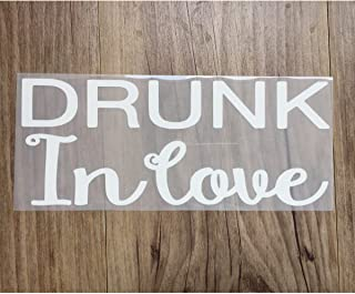Just Drunk, Drunk in Love iron on, DIY Bachelorette Party iron on for T shirt, Tank Top (#IG)