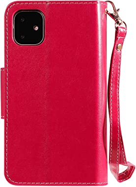 Dream2Fancy PU Leather Flip Cover Compatible with Samsung Galaxy S9, Elegant red Wallet Case for Samsung Galaxy S9