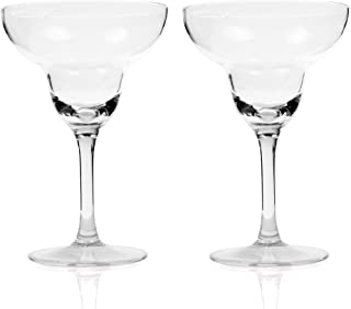 Kloud City Pack of 2 In 9 Ounce (265 ML) Clear Acrylic Margarita Glasses