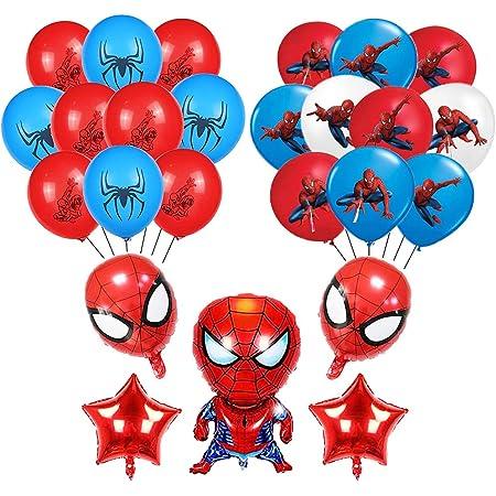 Ballons de baudruche Spiderman Nesloonp 28 PCS Décoration Anniversaire Spiderman Ballons Super Hero Ballon Spiderman Ballon pour Enfants Cadeau Fête d'anniversaire