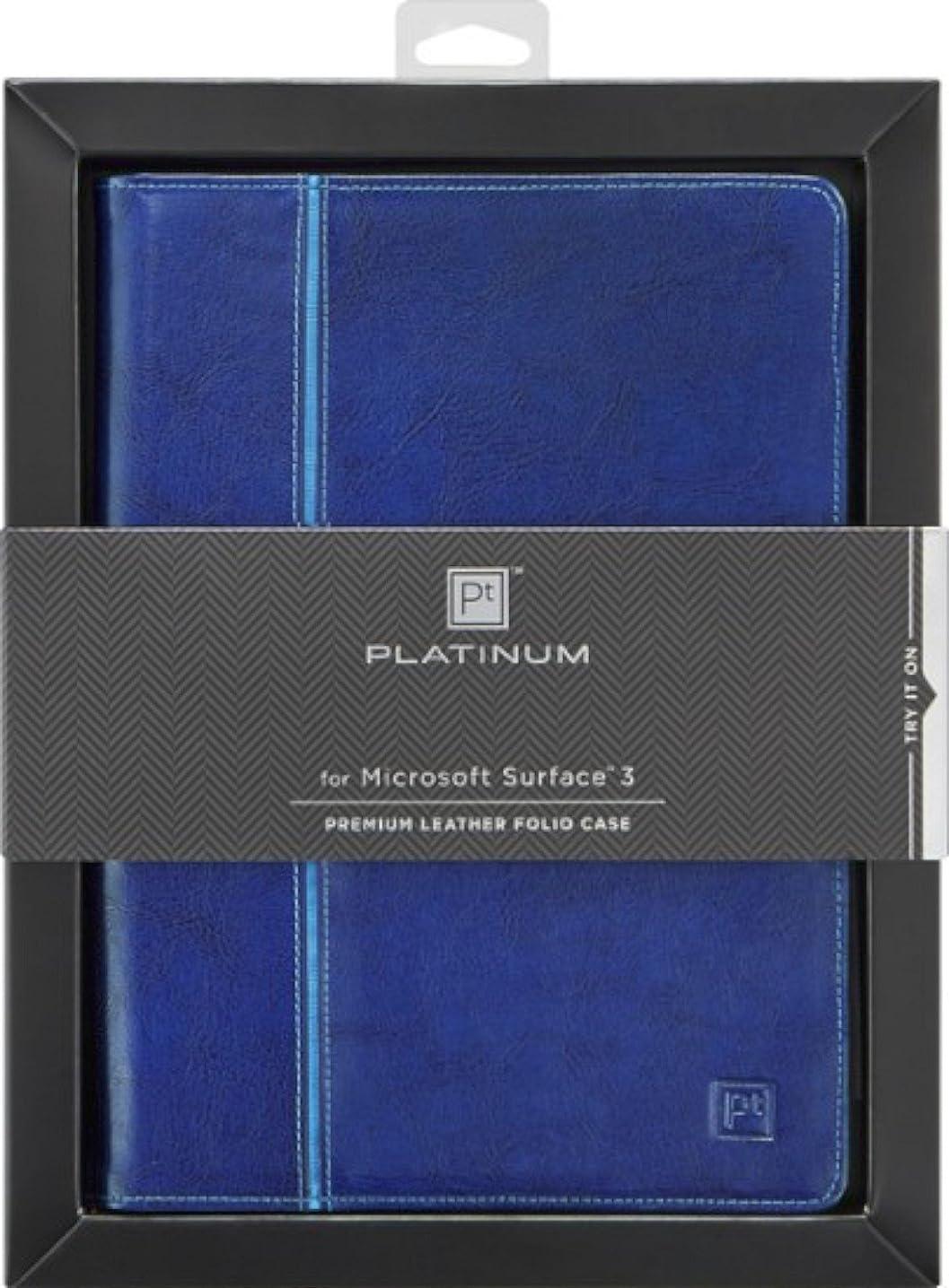 Platinum Leather Folio Case for Microsoft Surface 3