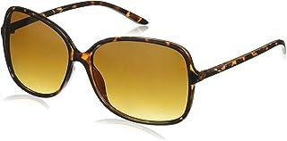 Foster Grant Women's Pf 18 Round Sunglasses, Tortoise/Brown Gradient, 60 mm