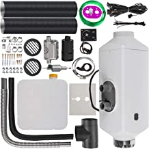 Happybuy 5KW Diesel Air Heater Muffler 12V 5000W Diesel Parking Heater 2 Duct Diesel Heater Double Vent with Knob Switch for RV Car Bus Motorhome Boats