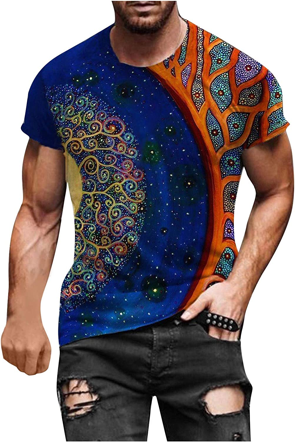 Men Reservation Stylish 3D Printed Sun Moon Short Star S Free shipping anywhere in the nation Graphic Alternation