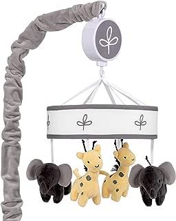 Lambs & Ivy Me & Mama Musical Baby Crib Mobile - Gray, White, Animals, Safari