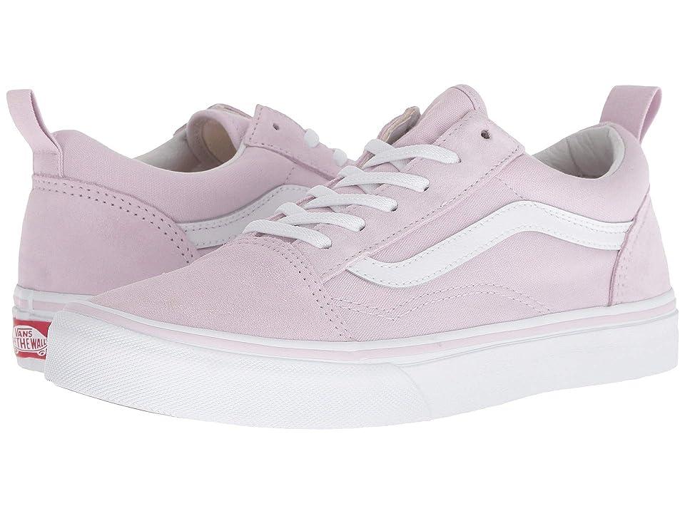 Vans Kids Old Skool Elastic Lace (Little Kid/Big Kid) (Lavender Fog/True White) Girls Shoes