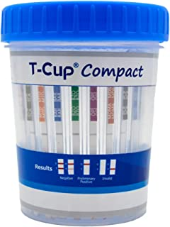 Prime Screen-5 Panel Multi Drug Urine Test Compact Cup (AMP,COC,mAMP/MET,OPI,THC) T-Cup -[5 Pack]-CDOA-254