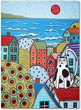 Seaside Cat by Karla Gerard, 14x19-Inch Canvas Wall Art