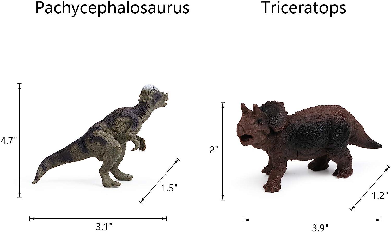12pcs Dinosaur Figures for Boys Realistic Dinosaur Toys Animal Figurines for Kids Dinosaur Pack Cake Toppers Decoration