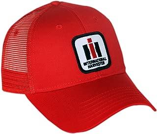 International Harvester IH Logo Hat, red mesh